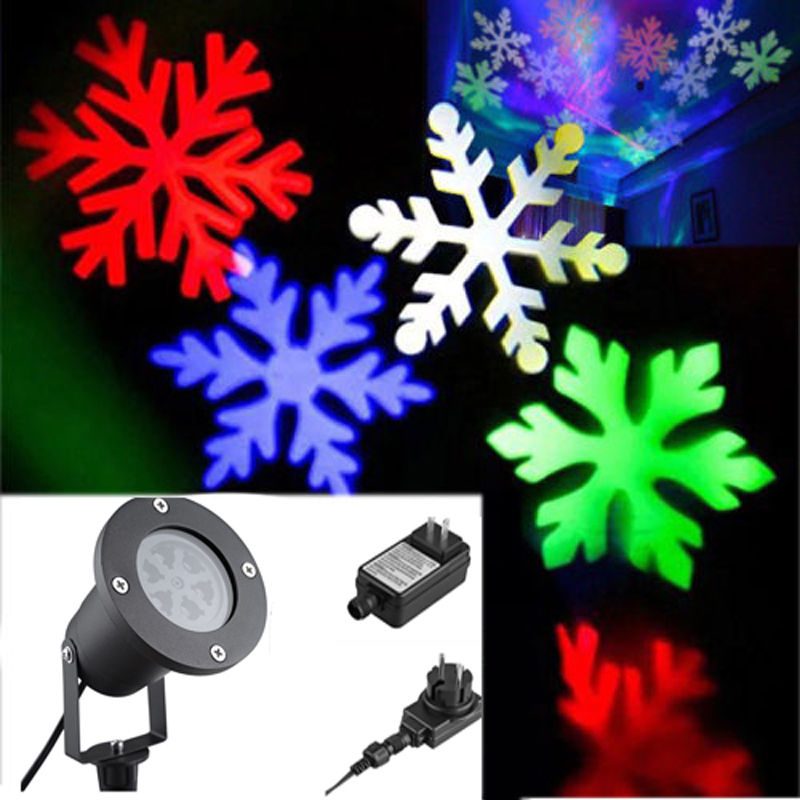 Outdoor LED Snowflake Projection Light Waterproof Lawn Lamp Festival Yard Decoration European Specification