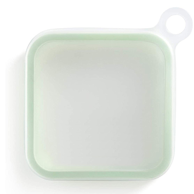 Portable Lunch  Box For Sandwich Take-out Lunch Box Student Office Worker Lunch Box Practical Food Container Transparent green