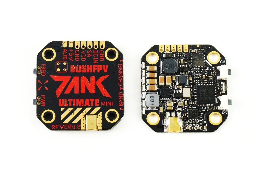 20*20 RUSH TANK Ultimate Mini VTX 5.8GHz 48CH 7-36V 800mW Video Transmitter Smart Audio AGC MIC FPV Racing Drone Black red