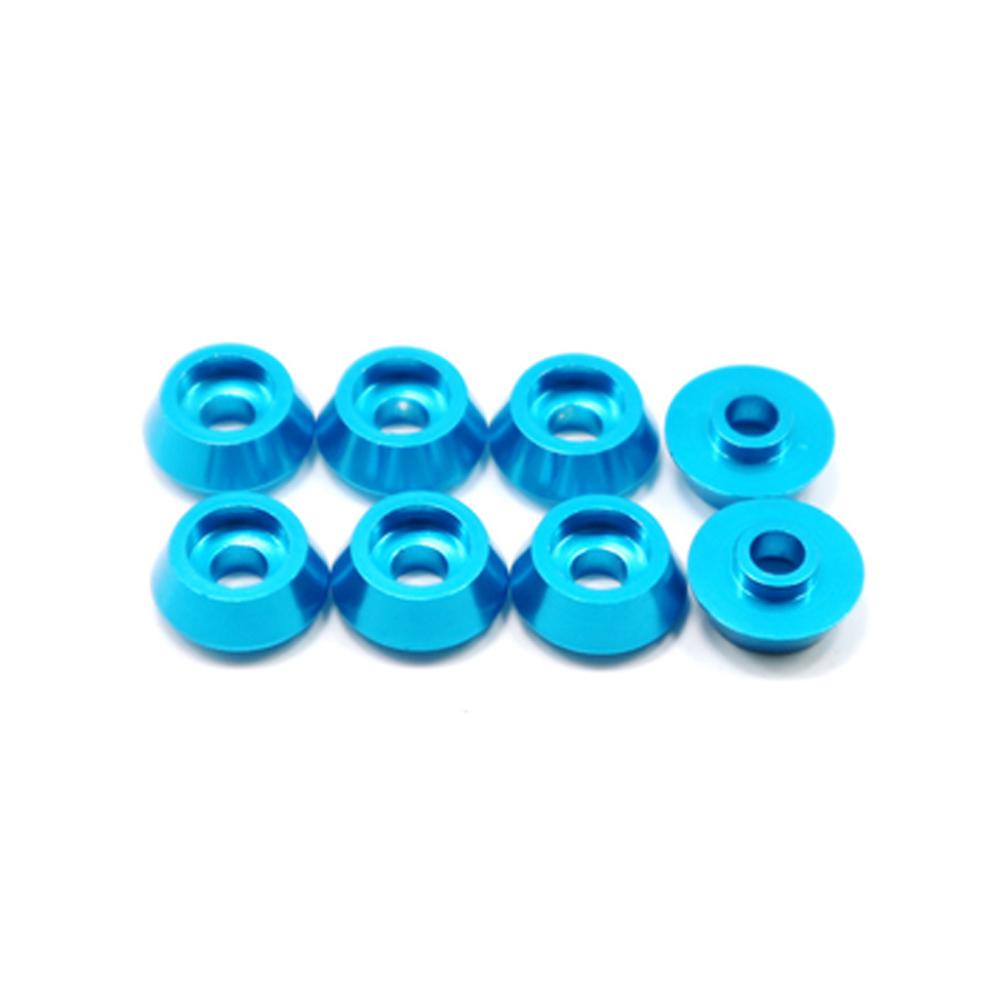 RBR/C 8Pcs/set Head Metal Bolt Gasket for WPL C14 C24 C34 C44 MN model RC Car Alloy Aluminium Countersunk Washer blue
