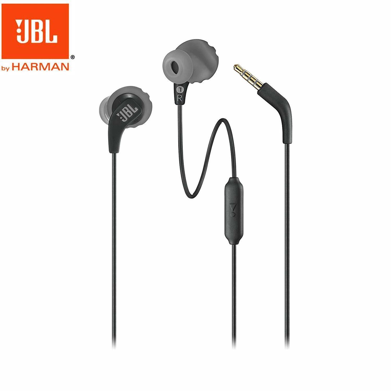 Original JBL Endurance Run Wired Earphones In-line Control In-Ear Sweatproof Sports Earphone with Mic Portable Magnetic Earplug black