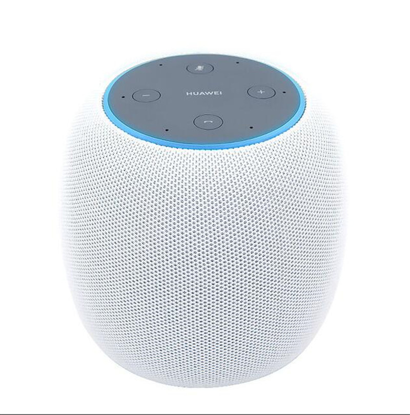AI Intelligent Multimedia Speaker Wireless Bluetooth Speaker Portable Hands-free Calls Microphone Compatible for iPod iPhone Computer Laptop white