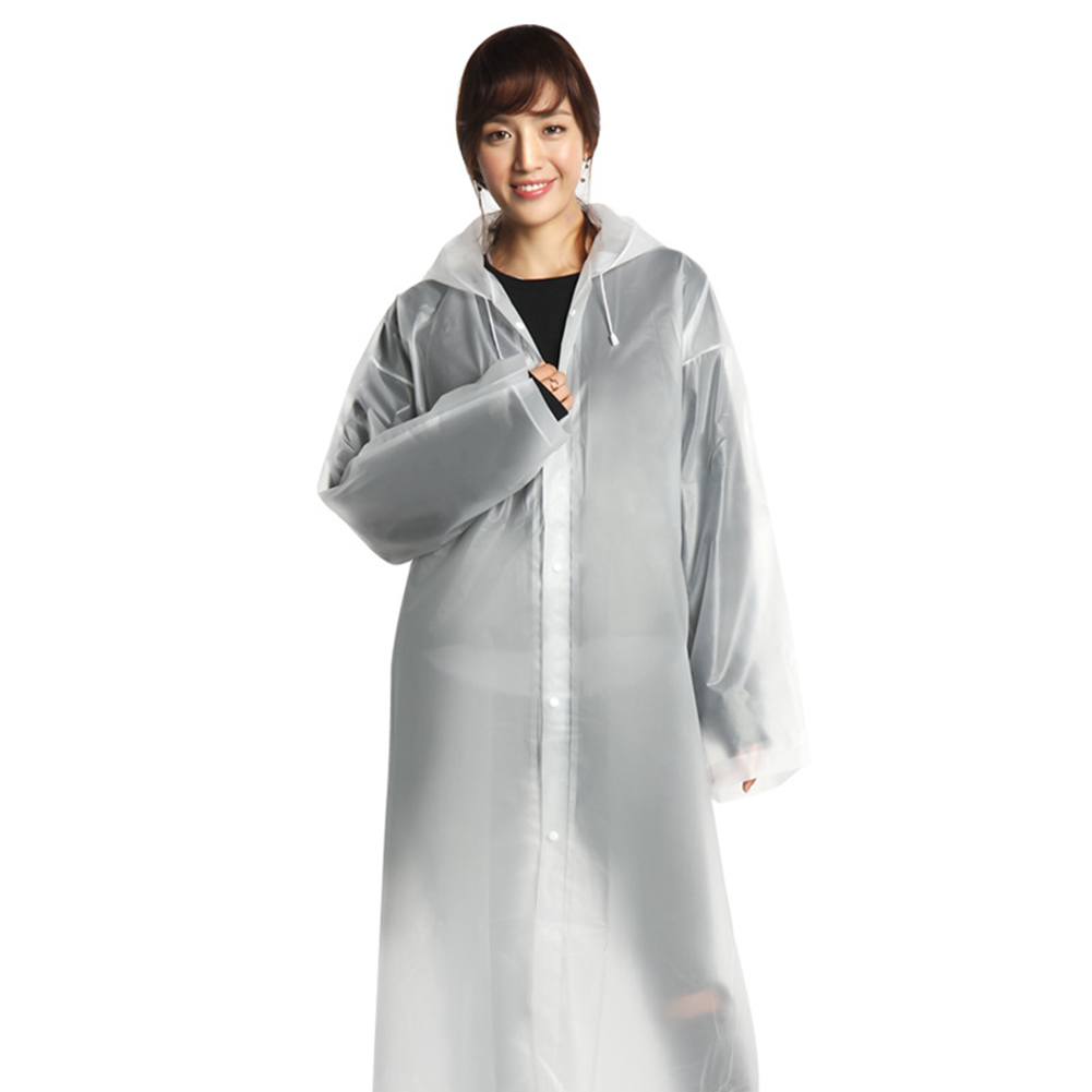 Adult Unisex Disposable Thicken Raincoat EVA Portable Outdoor Activities Raincoat white_free size