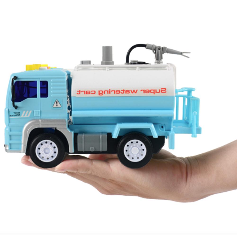 Water Spray Fire Truck Light Music Story Inertia Engineering Car Toy Car Model Children Gift Random Color