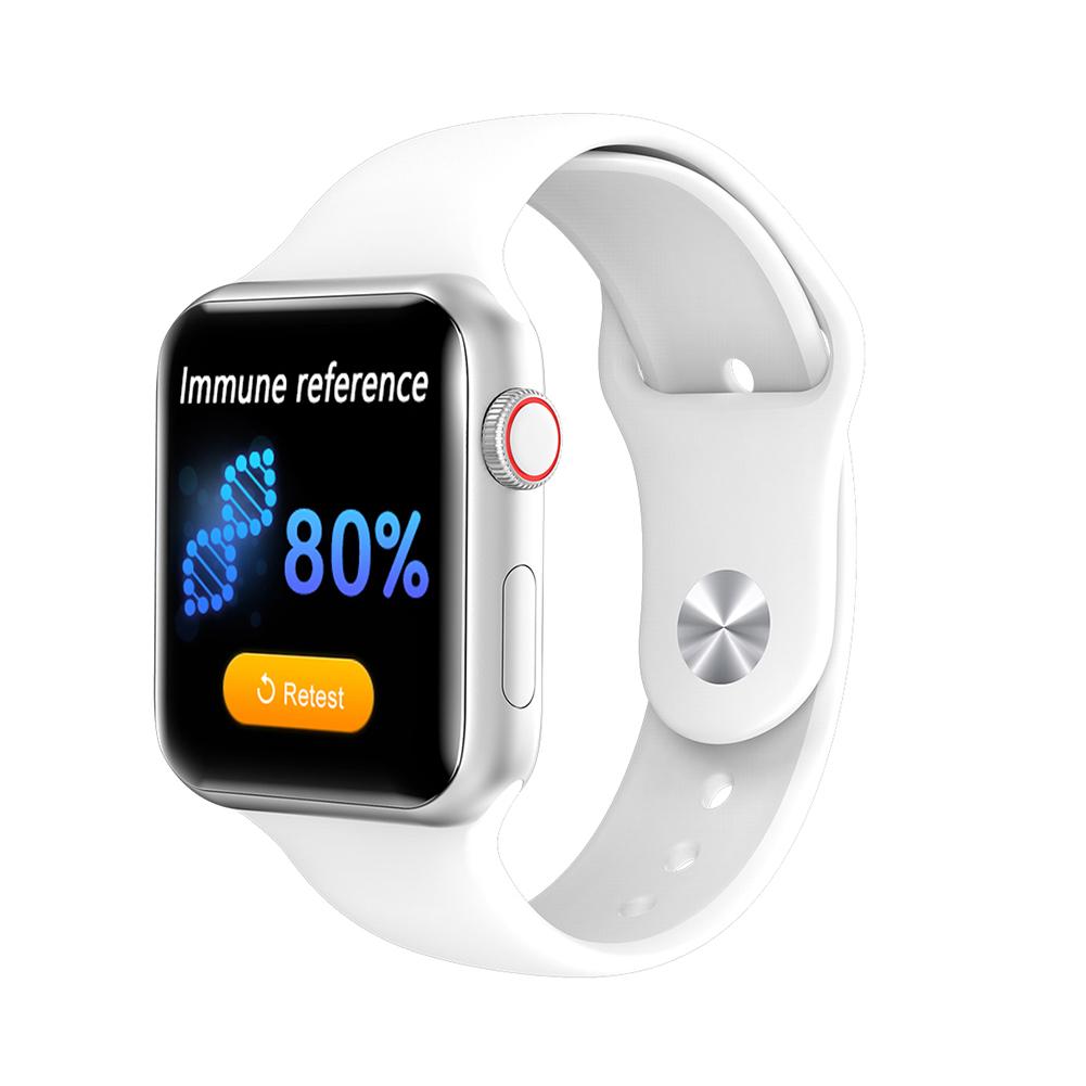 V10 Temperature Smart Watch Smartwatch Fitness Bracelet Activity Tracker Waterproof Heart Rate Monitor white