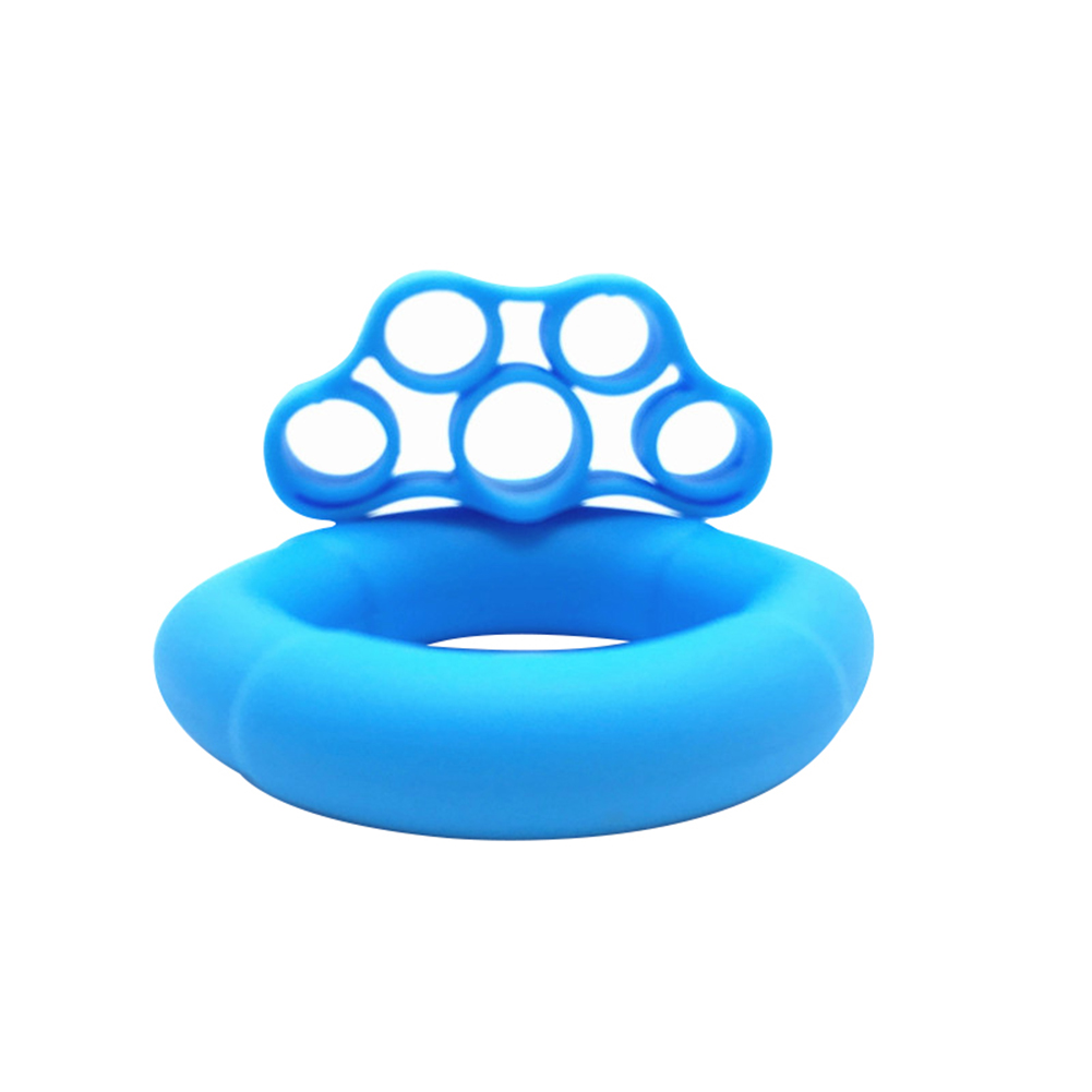 Finger Pull Ring+Resistance Bands For Training Rubber Loop Pull Ring Hand Grip Expander Wrist Training Carpal Fitness Grip 30LB + Tension 6.6LB Light Blue