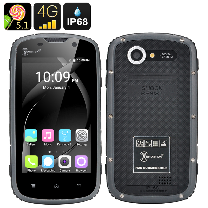 Ken Xin Da Rugged Smartphone (Black)