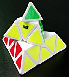 [US Direct] ThinkMax Pyraminx Speedcubing White Twisty Puzzle