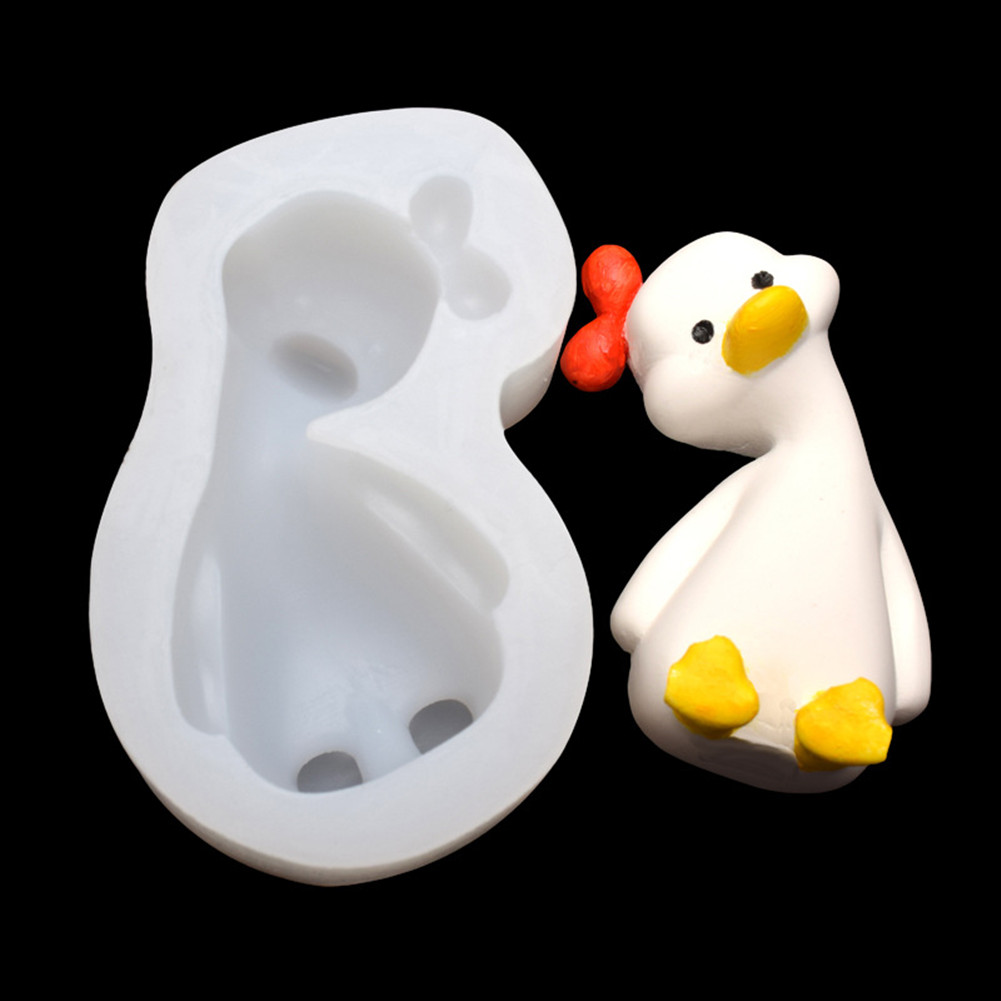 Silicone  Mold Chocolate Ice Cube Tray Fondant Molds Diy Soap Aromatic Gypsum Mould 1#---tilt duck