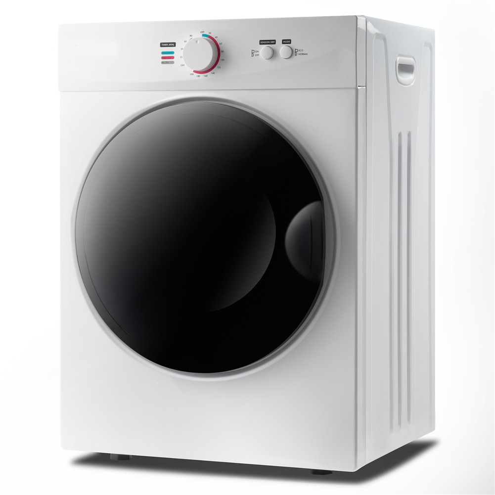 [US Direct] Portable Laundry Dryer With 5 Modes Control Knob For Home Dormitory Apartment RV white