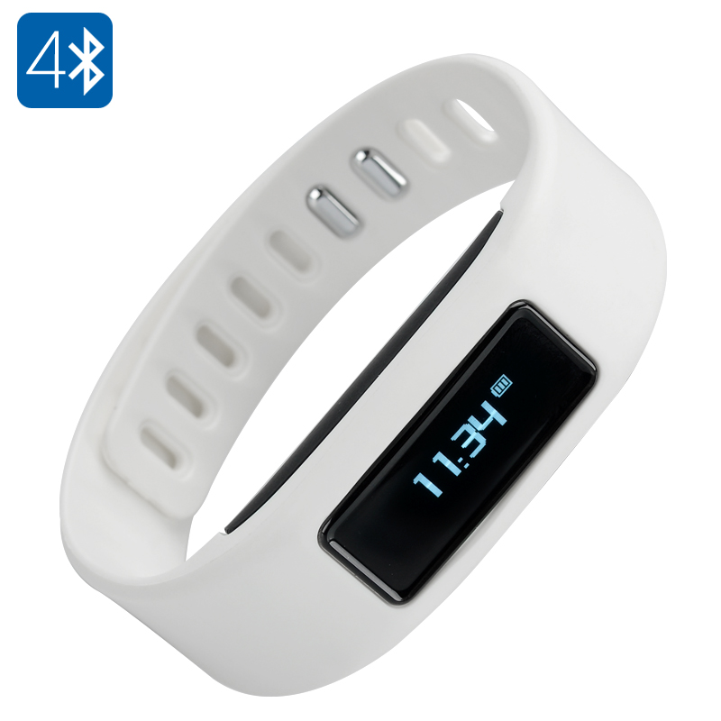 Bluetooth 4.0 Wristband (White)