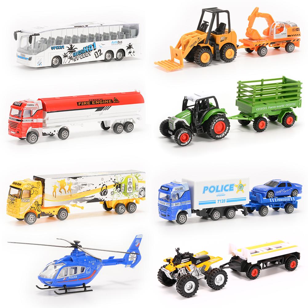 [US Direct] 8PCS Diecast Metal Car Models Children Toy Play Set Vehicles Playset