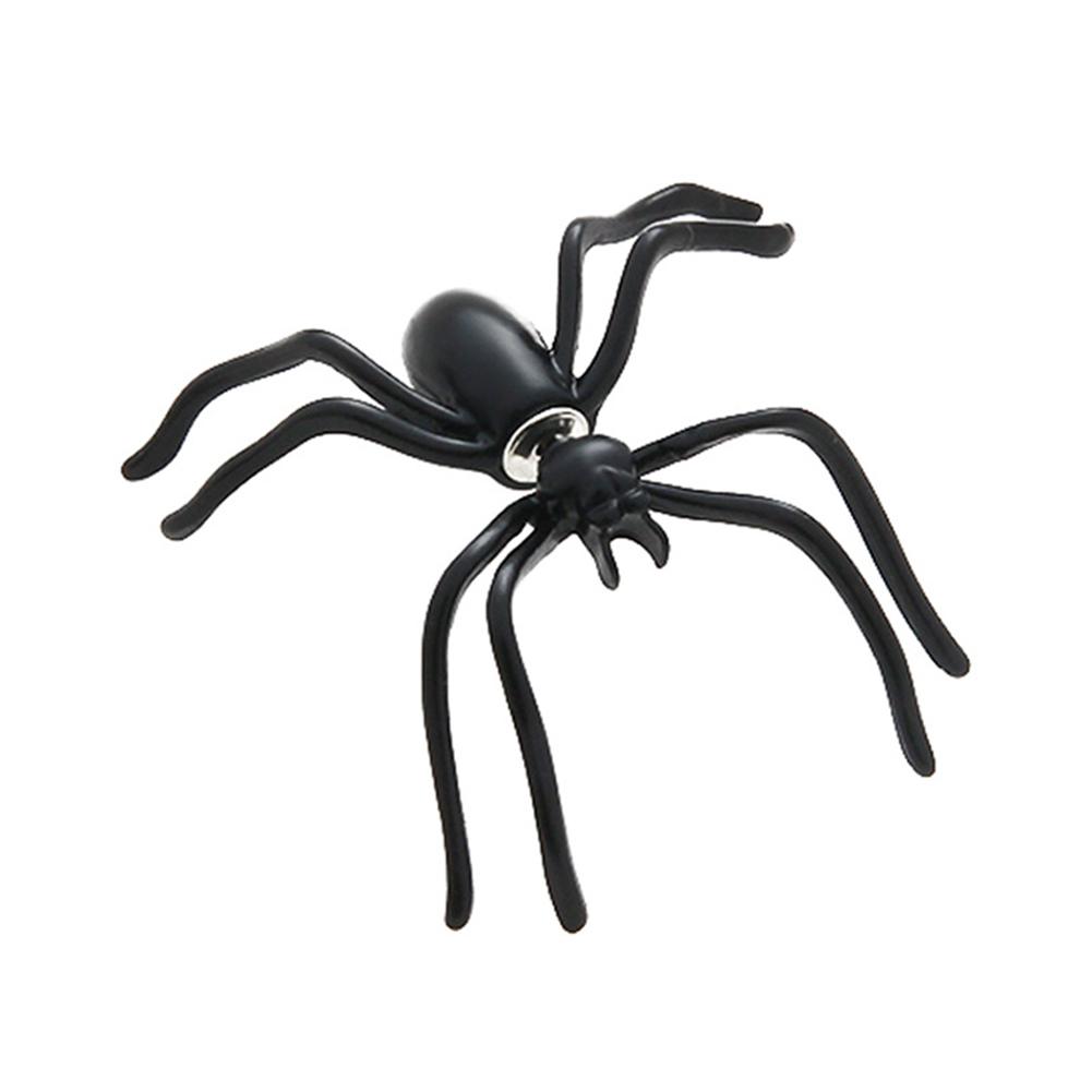 Imitation Spider Ear Stud Halloween Funny Earrings Gifts Women Jewelry Black spider