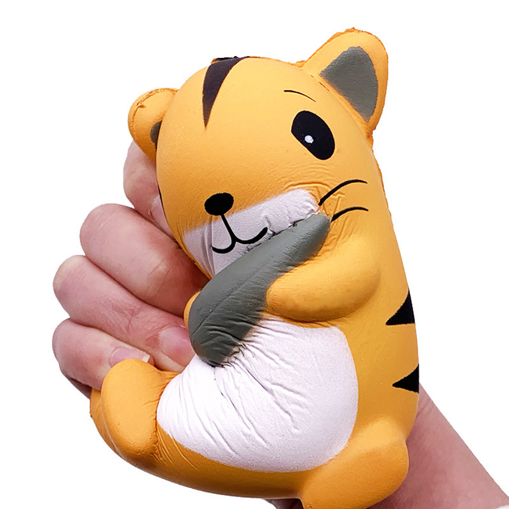 PU Slow Rebound Doll Decompression Toy Simulated Hamster Squishy Foam Relaxed Toy yellow_12.5 * 10.5cm