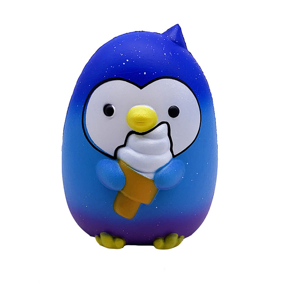 Ice Cream Penguin Pu Simulation Decompression Toy Super Soft Very Slow Rising Squishies  blue_15.5 * 12.5 * 10cm