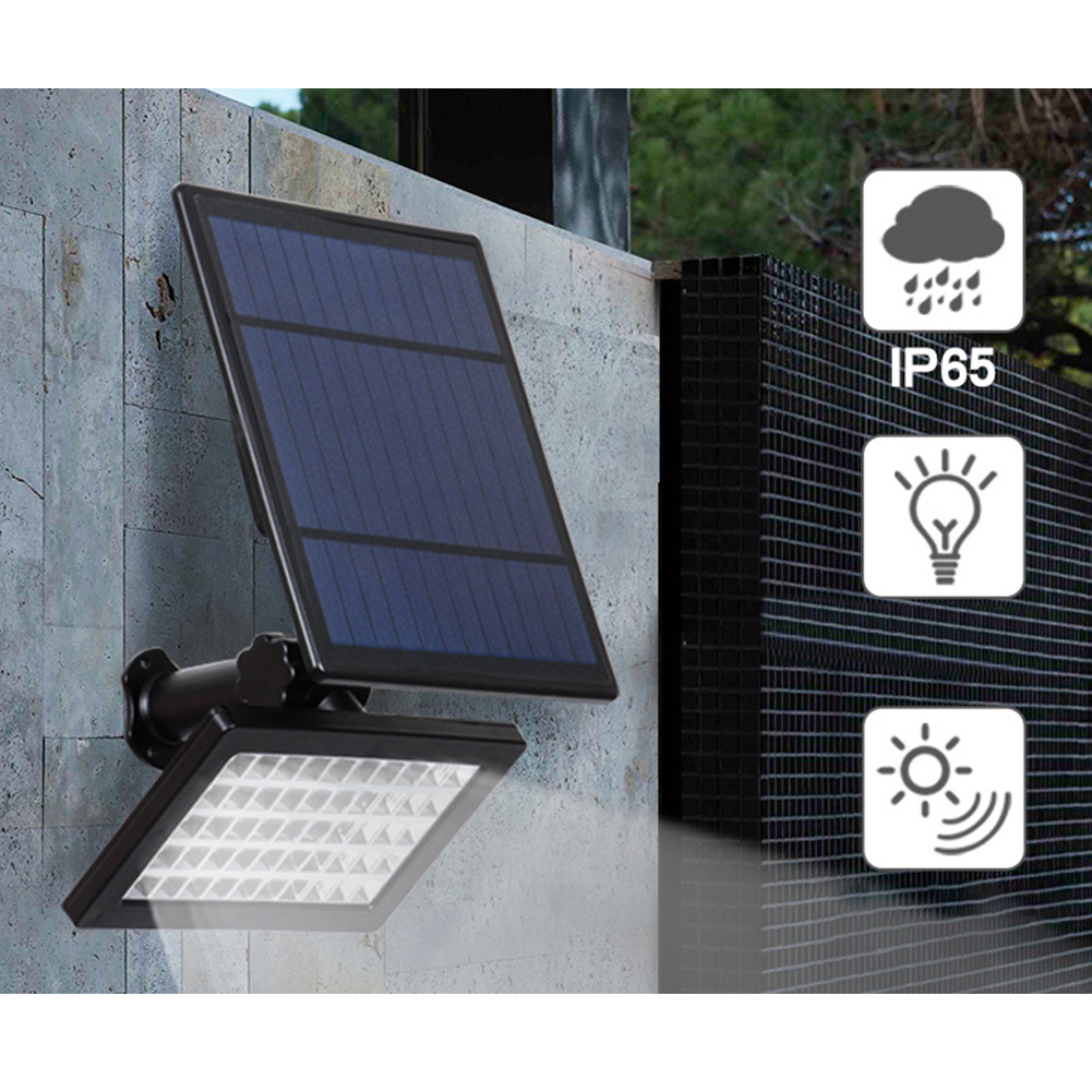 Solar Power Wall Lamp Lawn Home Yard Outdoor Waterproof 50LED Underground Flood Light