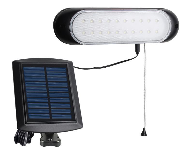 Outdoor Waterproof Solar Powered Wall Light for Villa Garden White light