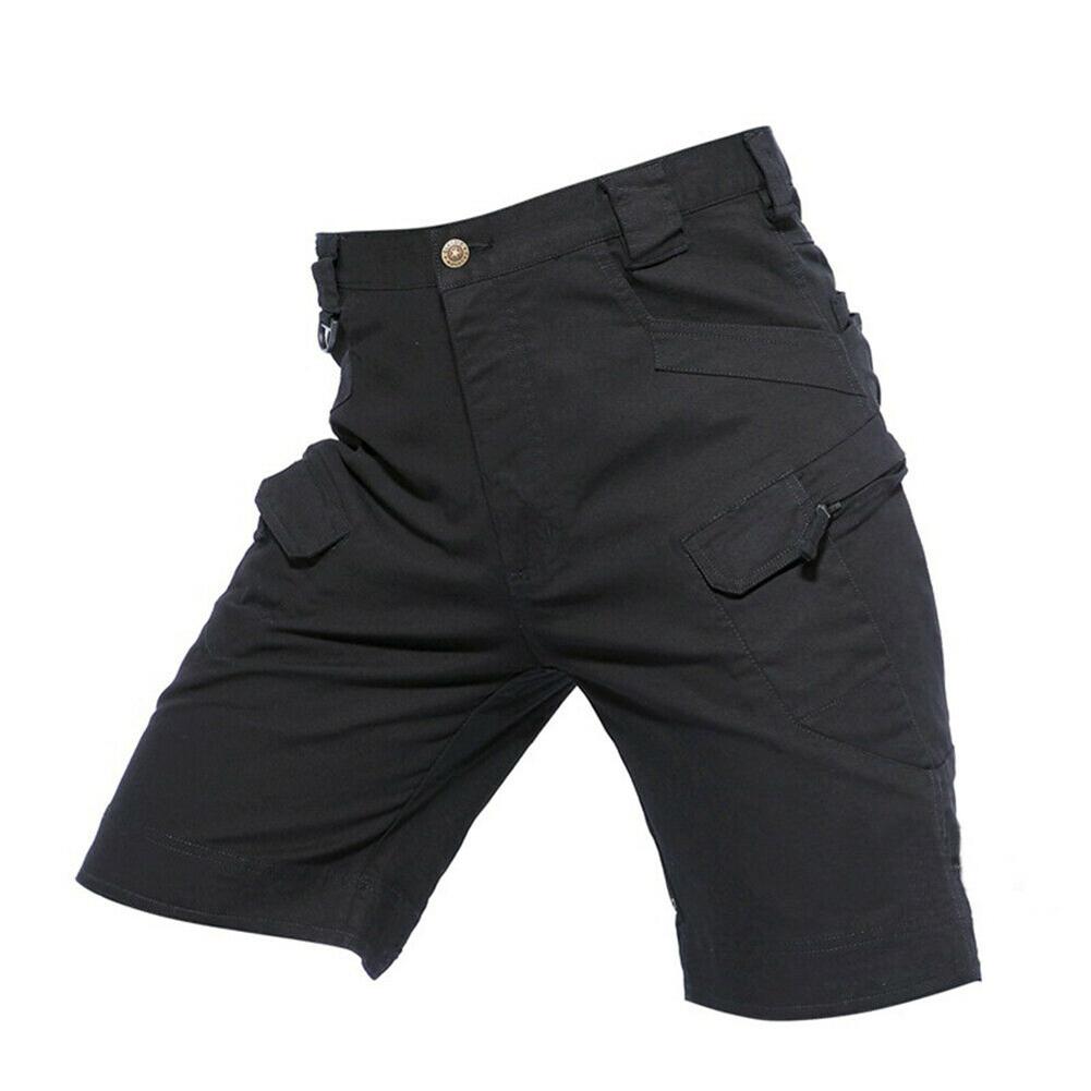 Men Summer Sports Pants Wear-resistant Overall Fifth Pants  black_M