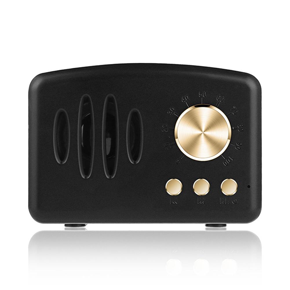 Retro Bluetooth Speaker Vintage Mini Bluetooth Speaker black