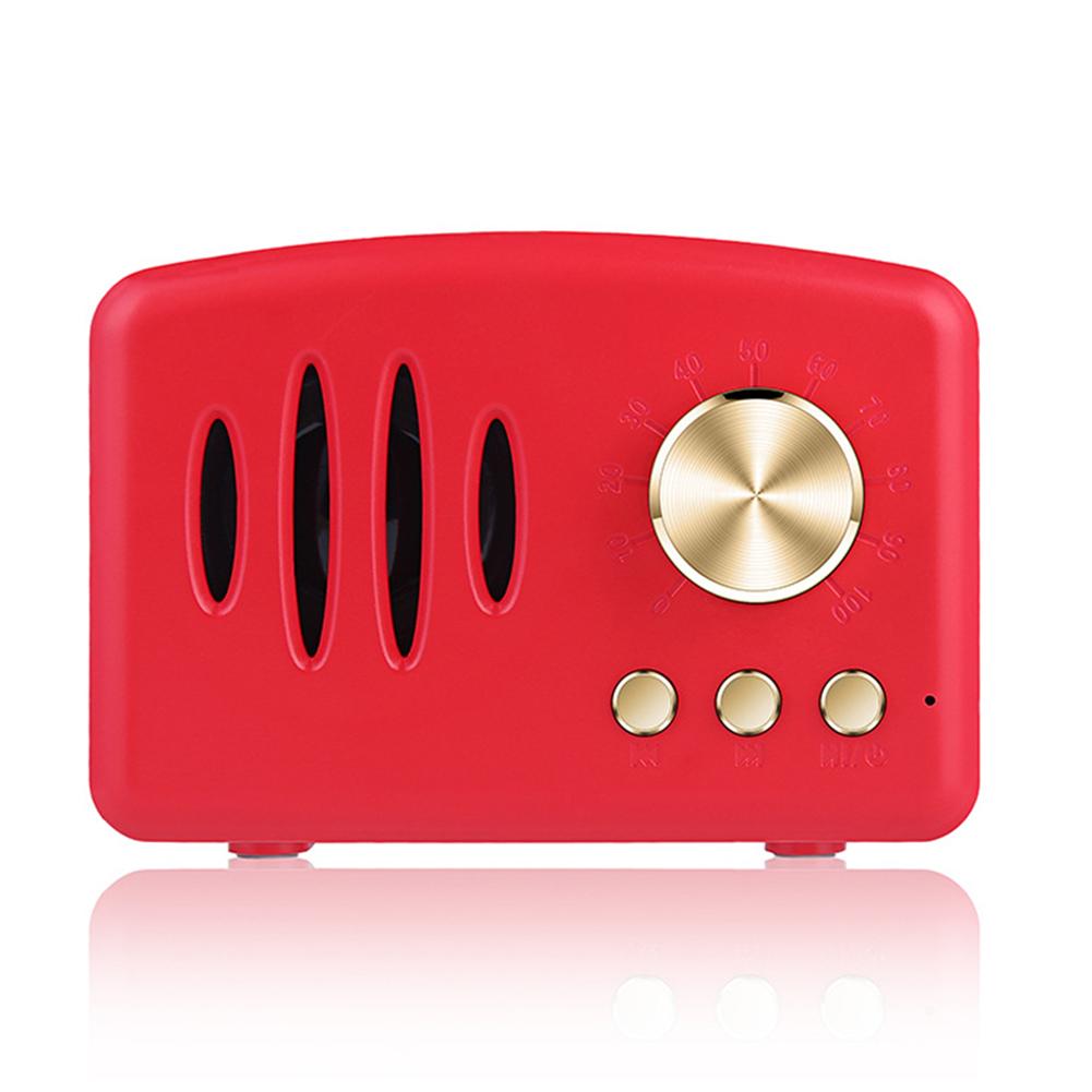 Retro Bluetooth Speaker Vintage Mini Bluetooth Speaker red
