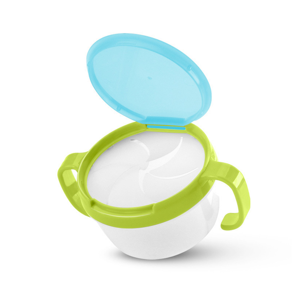 Baby Cute Snack Cup Toddler Tableware Anti-Skip Double-handle Prevent Splashing Baby Cup green