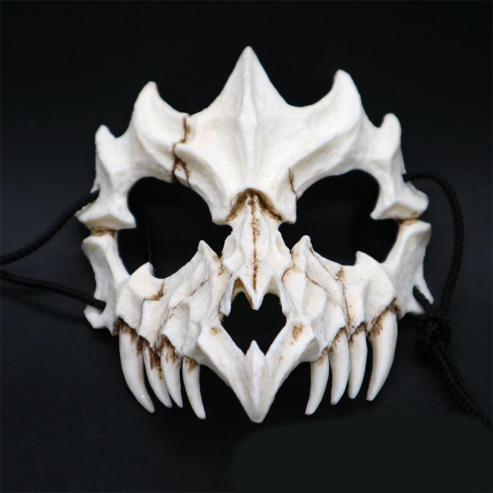 Japanese Gods Style Deluxe Resin Ninja Mask Prom Performance Art Mask Dragon  God