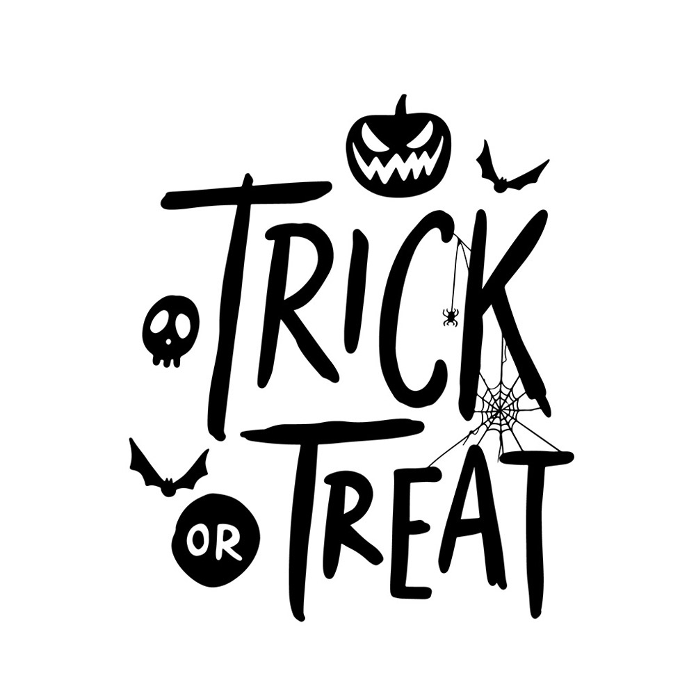 Wall Sticker Halloween Party Decal Wallpaper for Home Living Room Decoration AFH2097