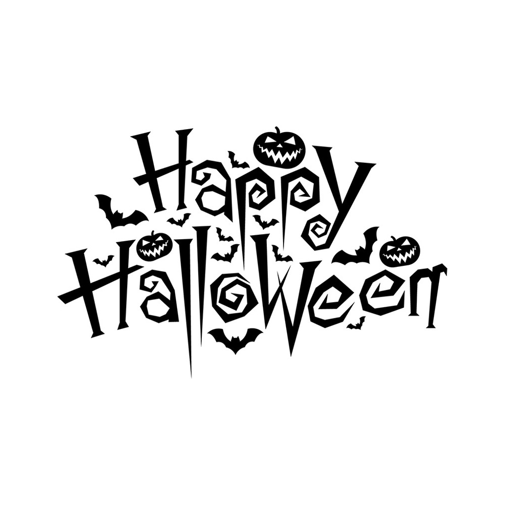 Wall Sticker Halloween Party Decal Wallpaper for Home Living Room Decoration AFH2096