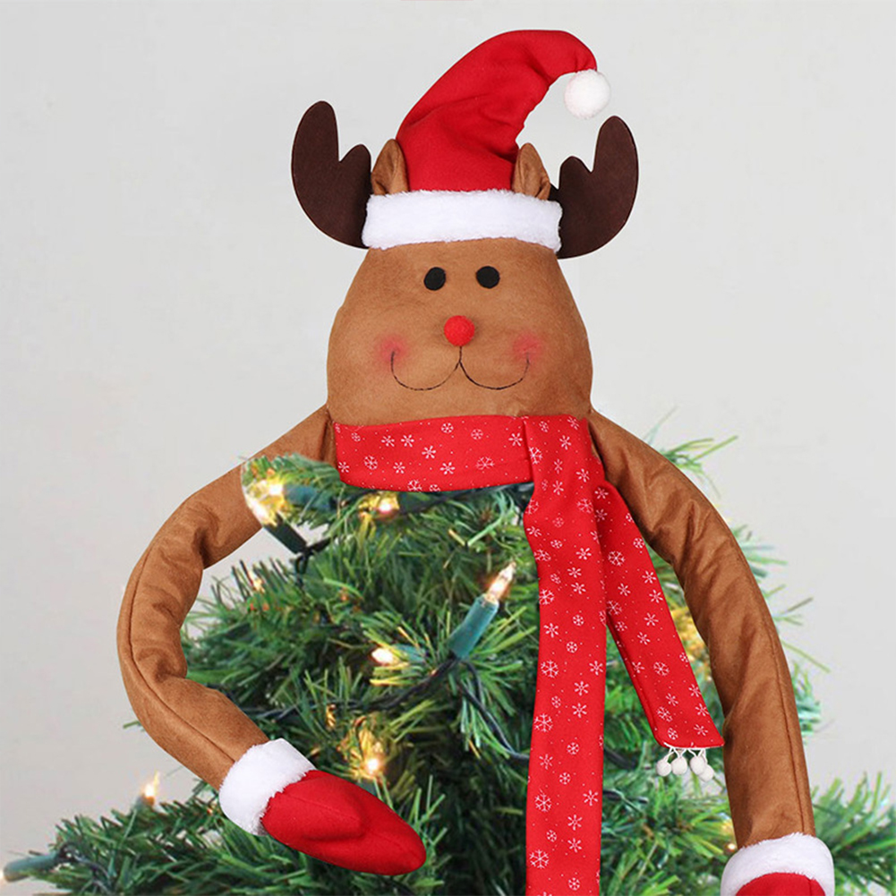 Deer Doll Christmas  Tree  Top  Decoration New Year Dinner Party Home Christmas Decorations Deer Tree Top Star