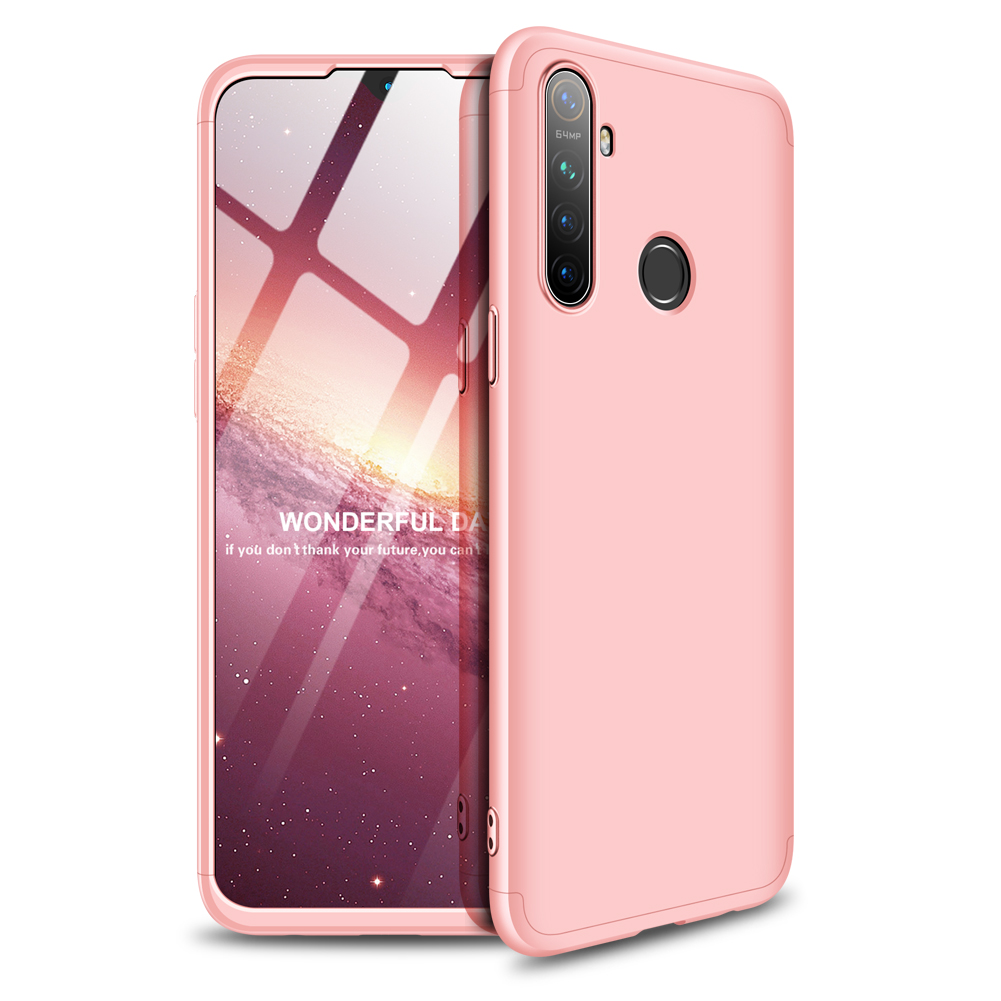 for OPPO Realme 5 Anti-Collision Protection Cover 360 Degree Full Coverage Phone Case Cellphone Shell Cover rose