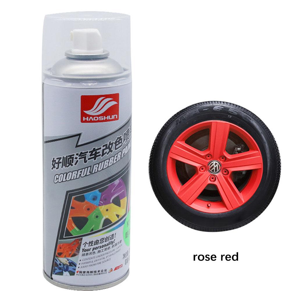 Auto Wheel Spray Film Car Tire Color Change Wheel Hub Paint Rose red