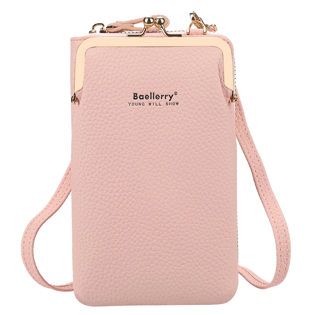 Women Satchel Crossbody Bag Mini PU Leather Shoulder Messenger Bag for Girls Phone Purse Pink