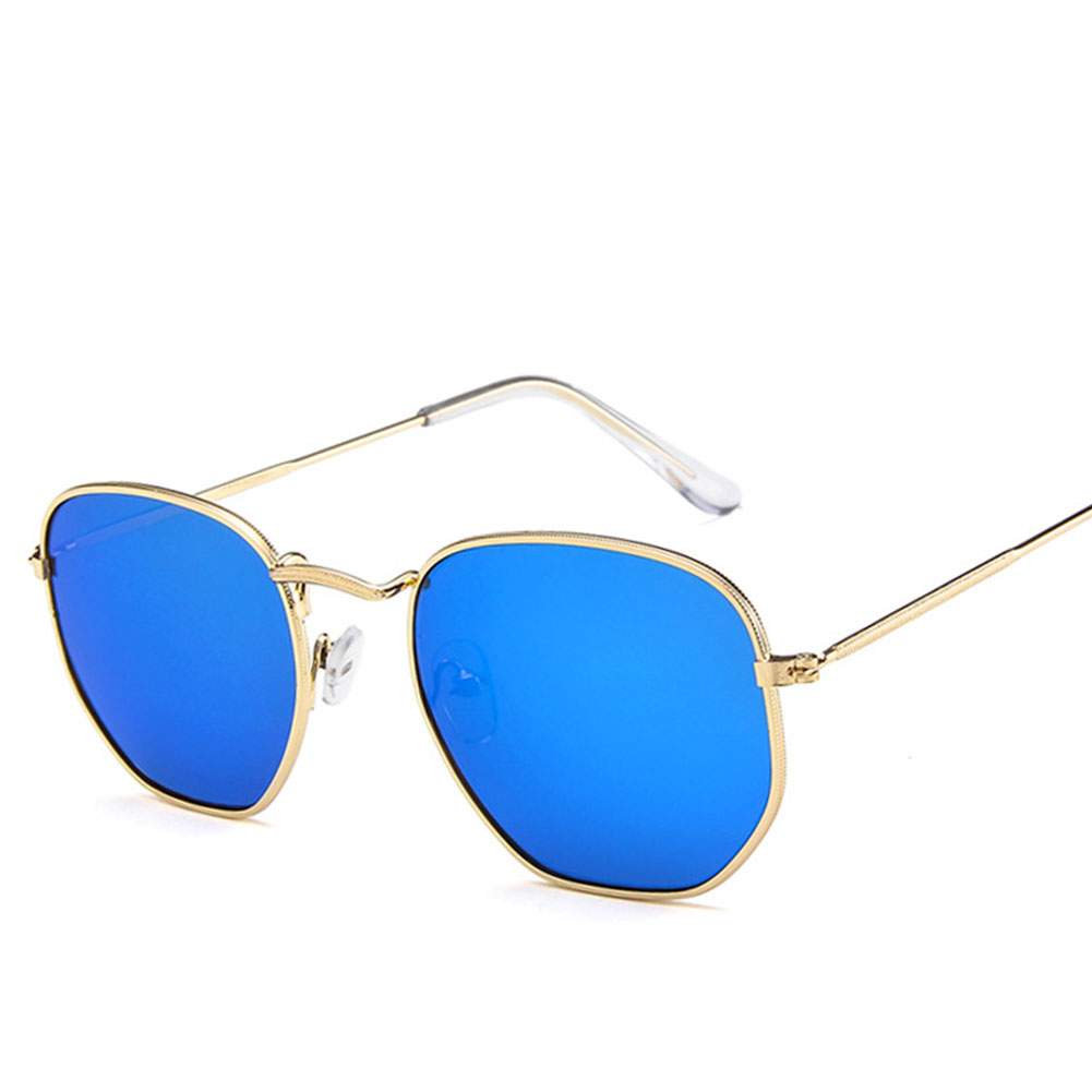 Retro Square Frame Metal Polygon Sunglasses for Outdoor Sports Driving  3548-43-135