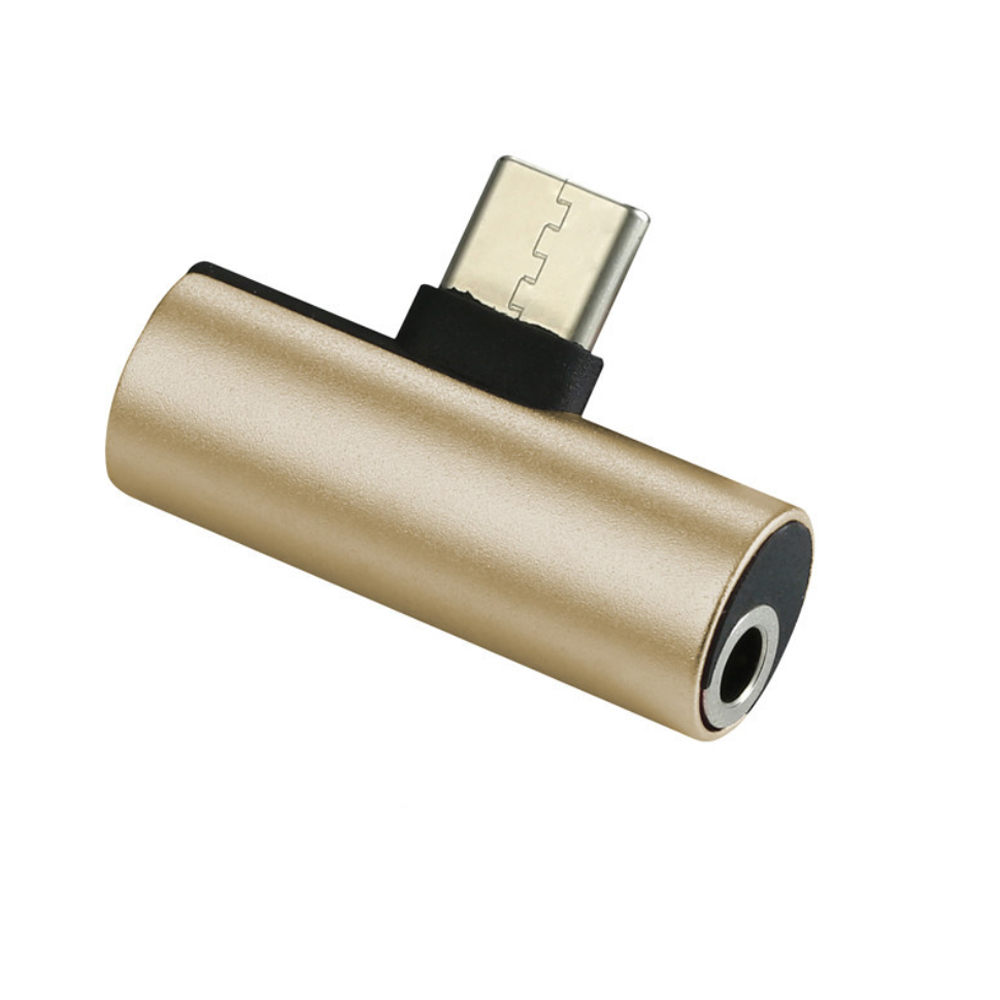 2D68-TYC 2 IN 1 Charging Converter Gold