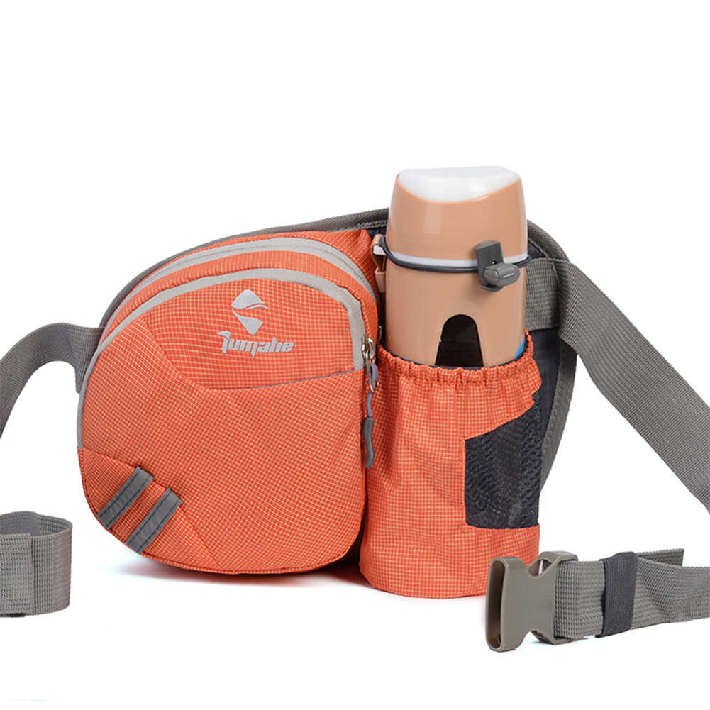 Men Women Multifunctional Running Waist Package Waterproof Nylon Bottle Bag  Orange