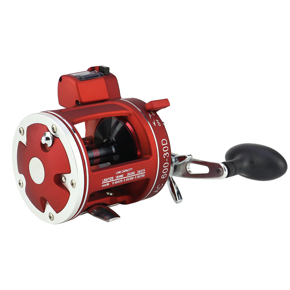 YUMOSHI ACL 12+1BB Round Baitcast Reel with Counter Left/Right Hand for Jigging Trolling in Saltwater 30D left hand
