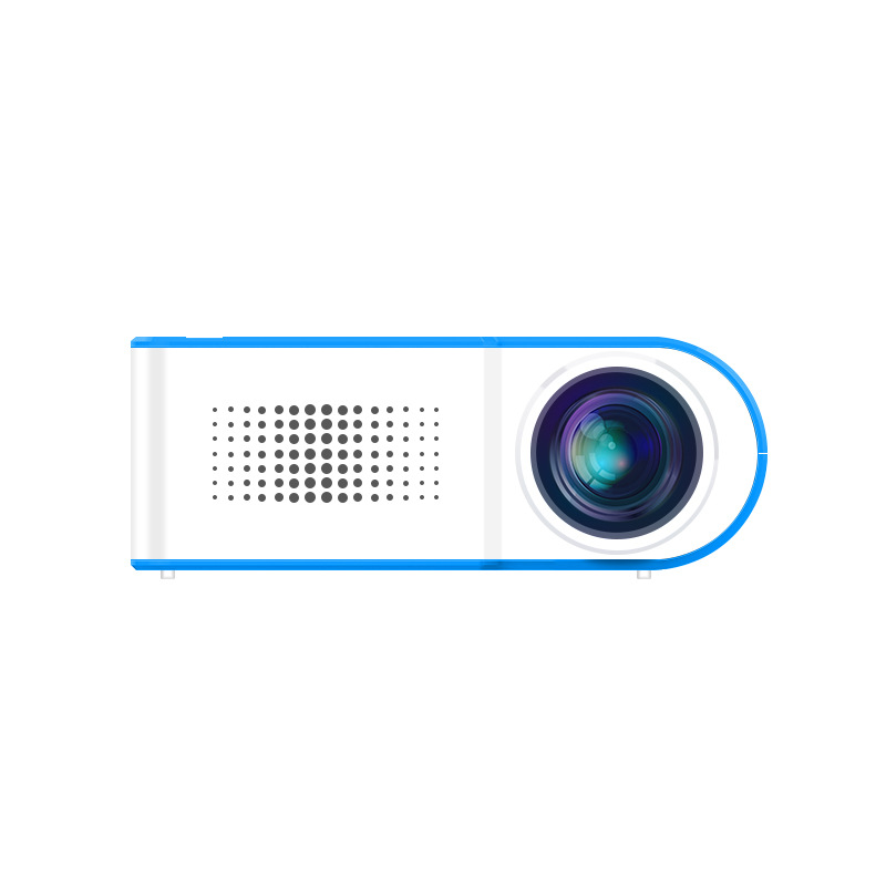 YG210 Mini Portable Projector Video Digital HD 1080P LCD 18W Energy Saving Projectors for Home Cinema Theater blue_European regulations