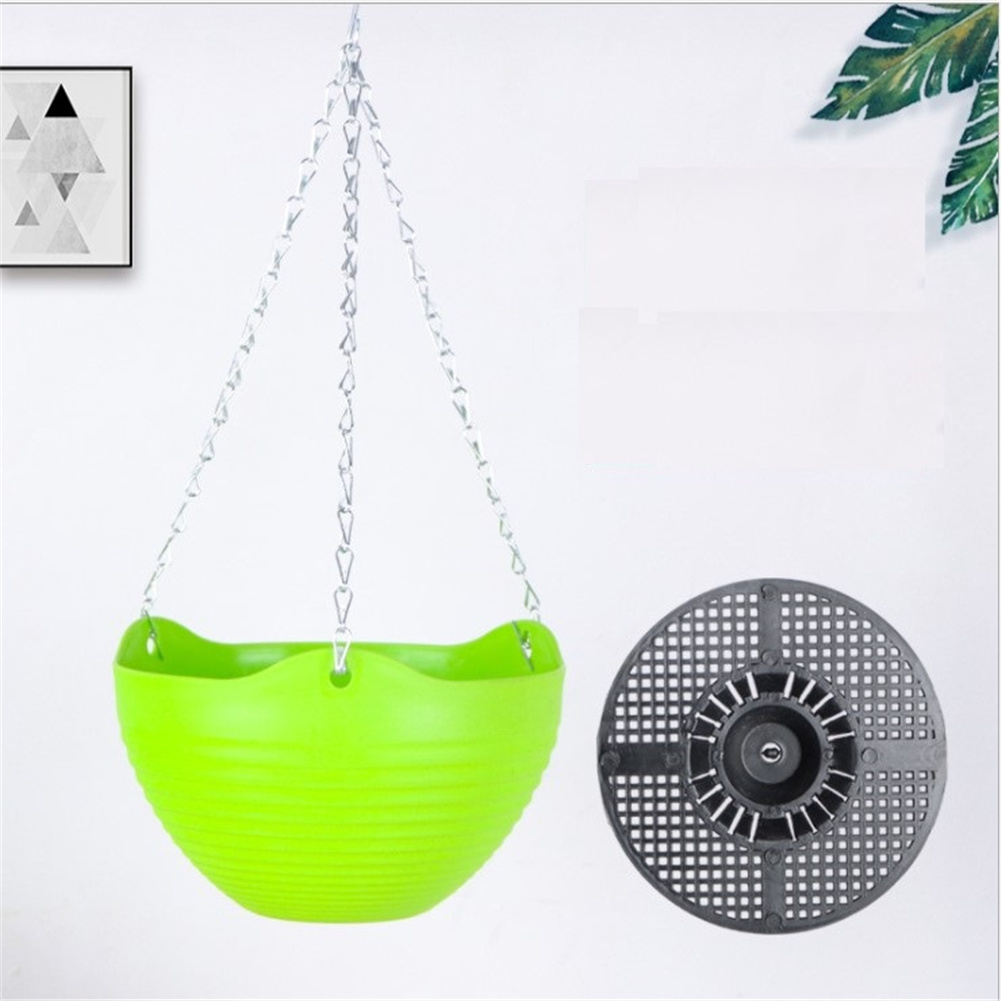 Hanging  Basin Wall-mounted Green Plant Succulent Pot With Hanging Chain Green