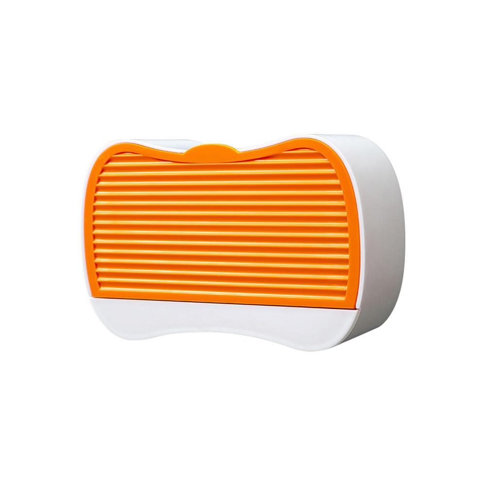 Soap  Holder Wall Mounted Soap Mount Flip-top Soap Box Bathroom Accessories Orange (soap box)_Medium