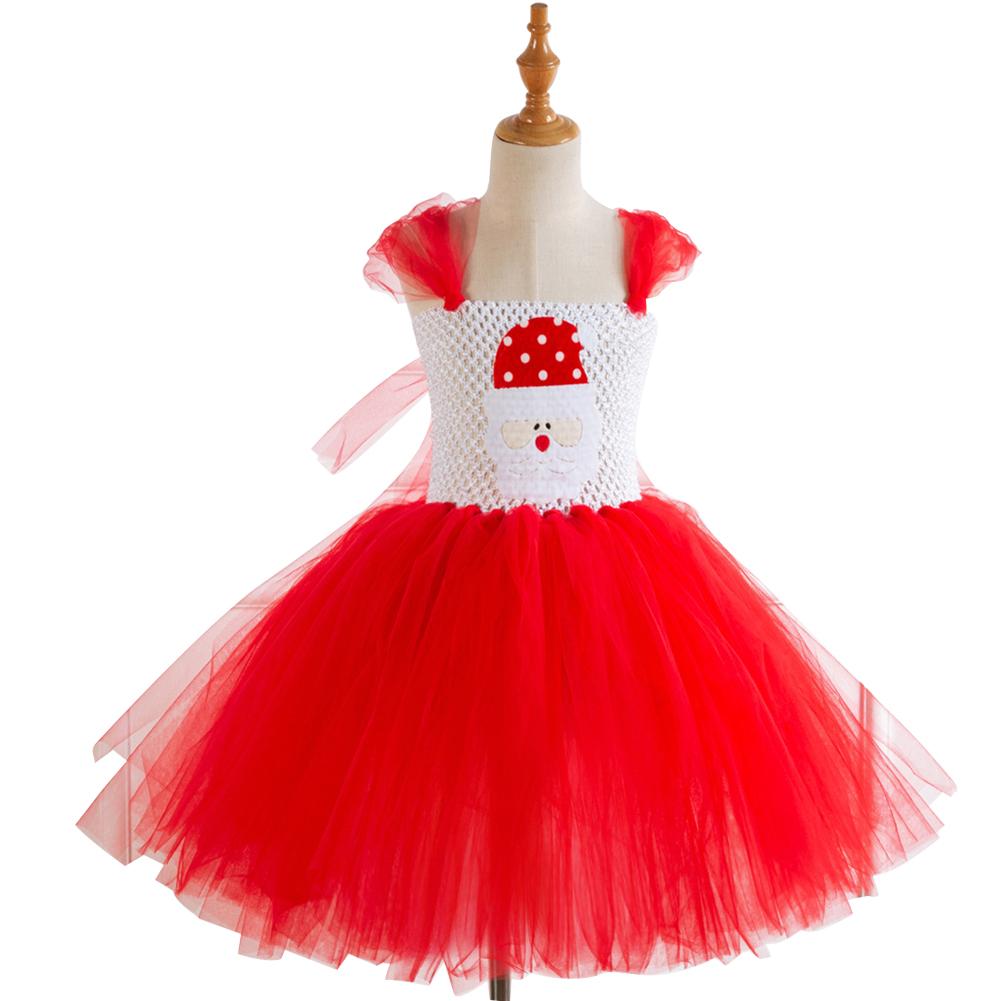 Girls Dress Christmas Cartoon Performance Dress for 4-12 Years Old Kids HD93362