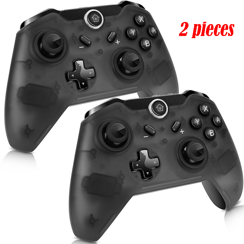 Wireless Gaming Console Controller For Switch Gamepad Plug And Play Ergonomic Gamepad Black 2pcs