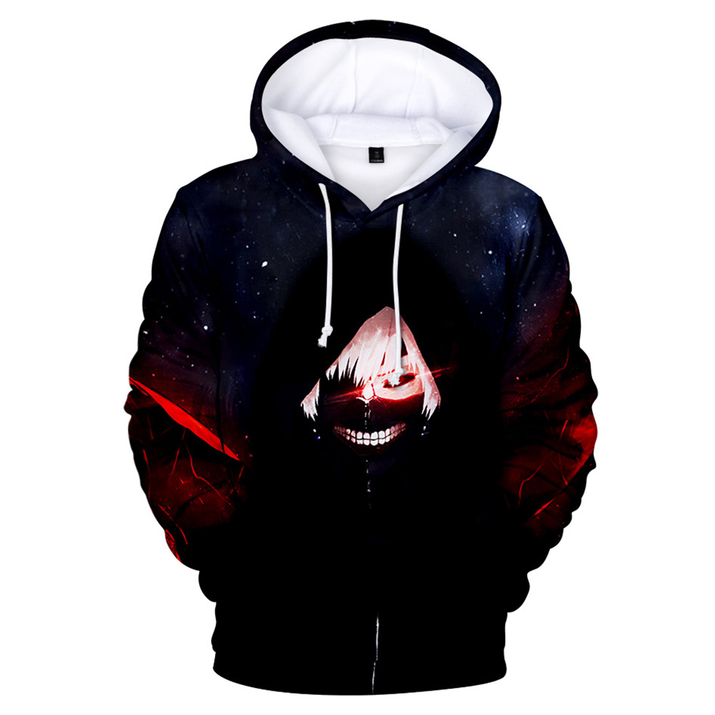 3D Women Men Fashion Tokyo Ghoul Digital Printing Hooded Sweater Hoodie Tops C_XXXL
