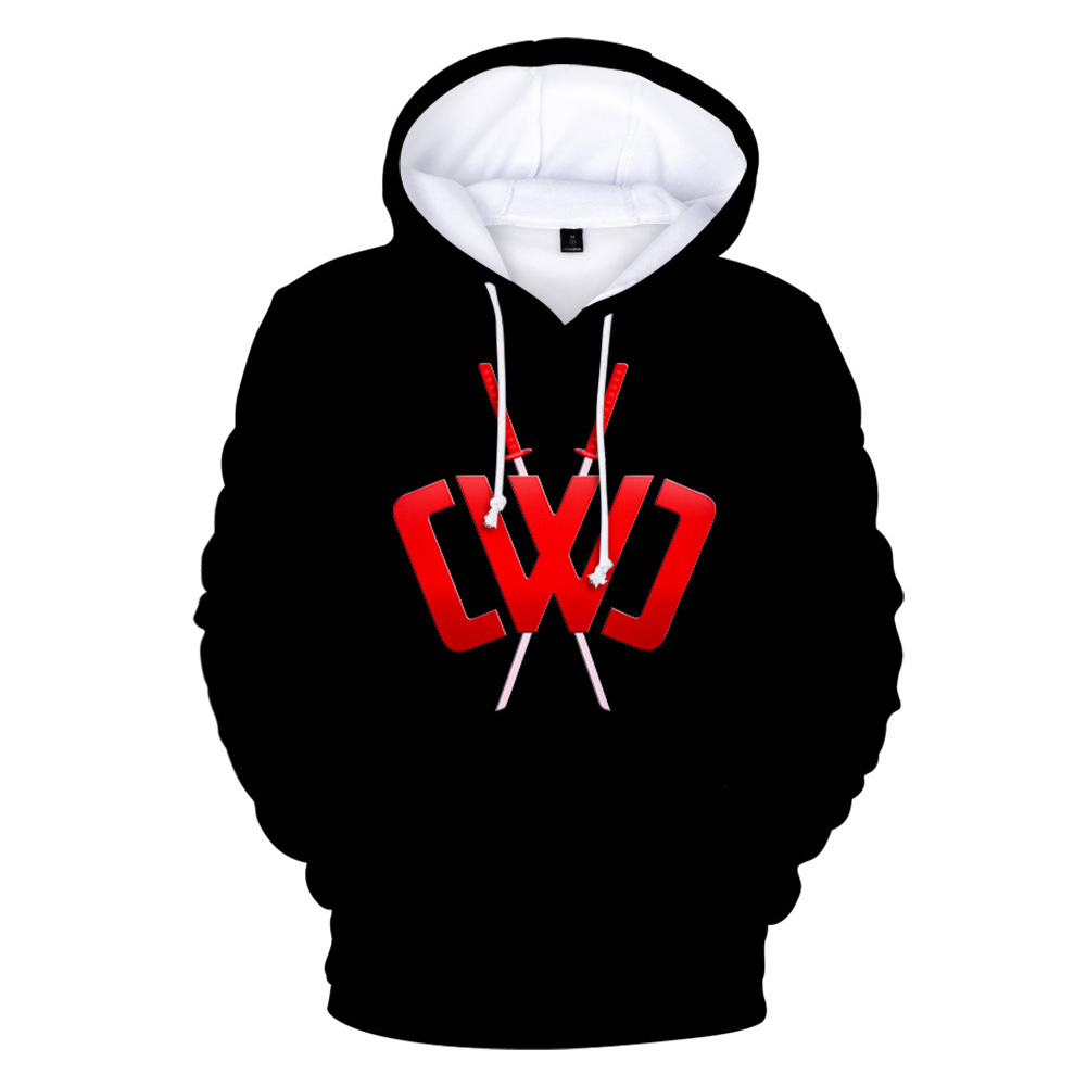 3D Digital Pattern Printed Sweater Long Sleeves Hoodie Top Loose Casual Pullover for Man E style_XL