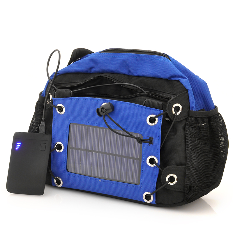 Camera Bag with Solar Panel + 2200mAh Battery