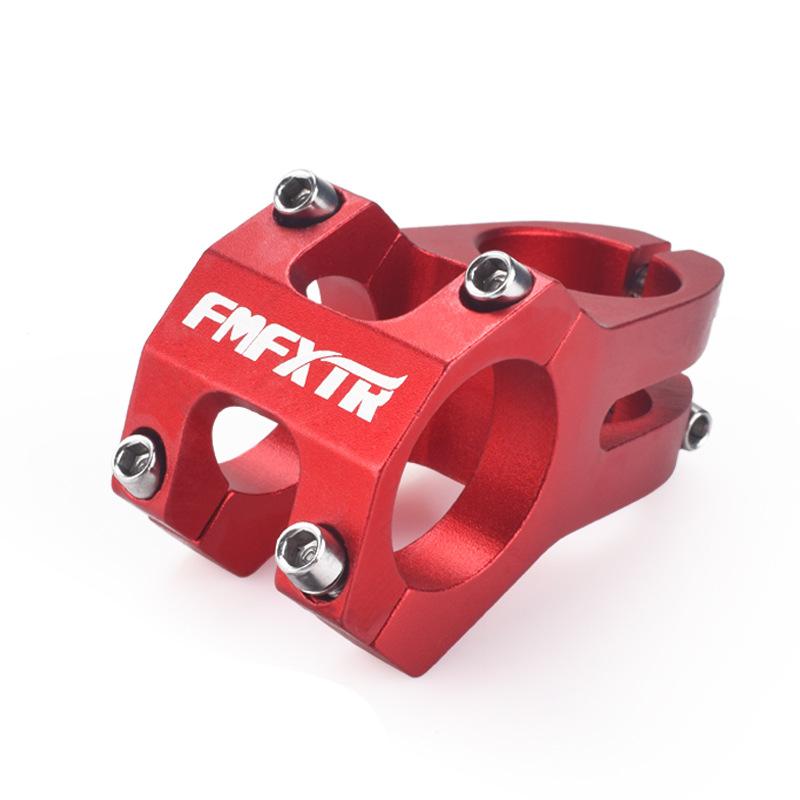 Mountain Bike Handlebar Faucet Accessories Bicycle Downhill Short Handle Climbing Bike Hollow Stem Riser 31.8mm red