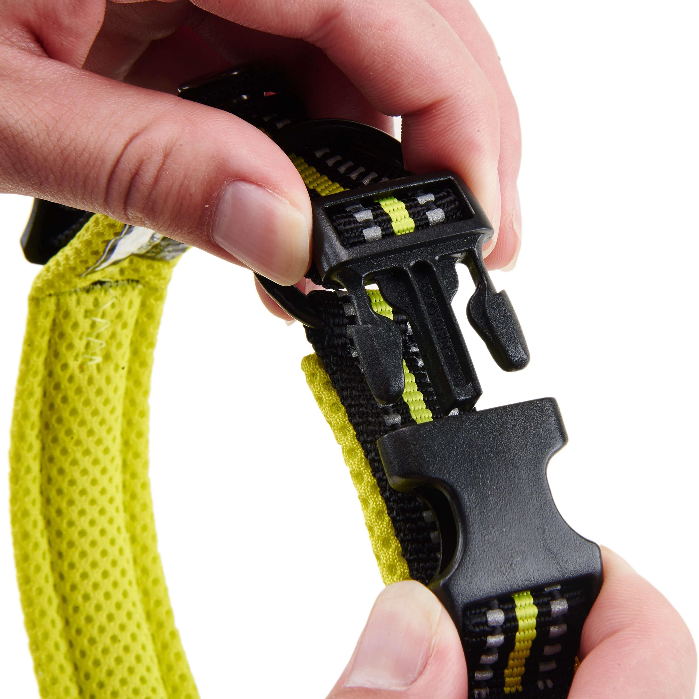 [US Direct] Original Truelove Reflective Dog Collar with Plastic Clip-in Buckle, High-grade Soft Padded Nylon Webbing, No Choke Basic Collars ( L, Green) Green_L