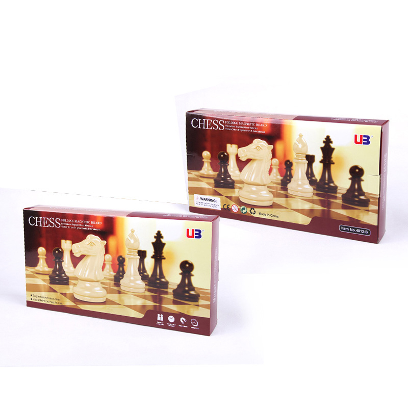[EU Direct] 2 in 1 Travel Magnetic Chess & Checkers