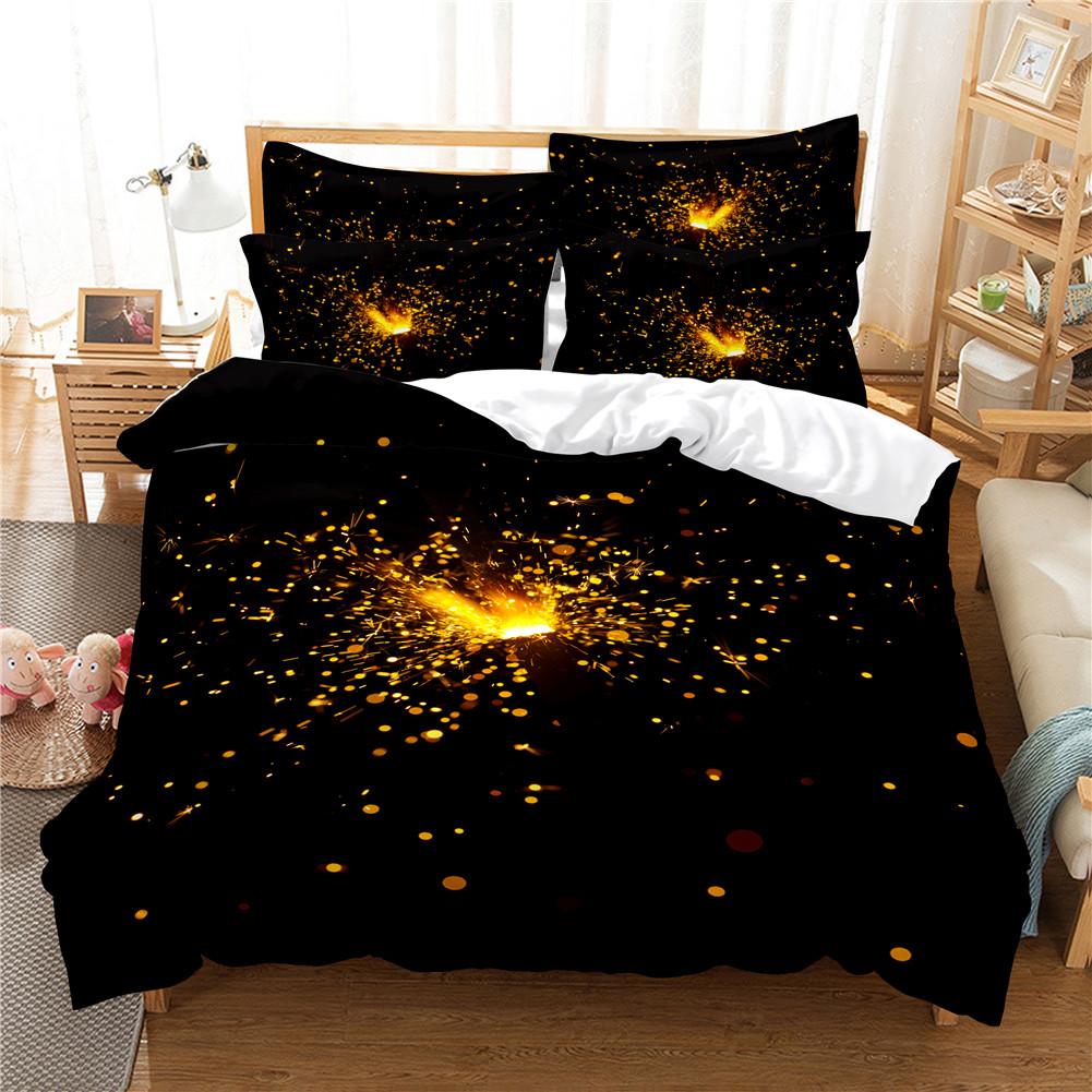 2Pcs/3Pcs Quilt Cover +Pillowcase 3D Digital Printing Dream Series Bedding Set FUll