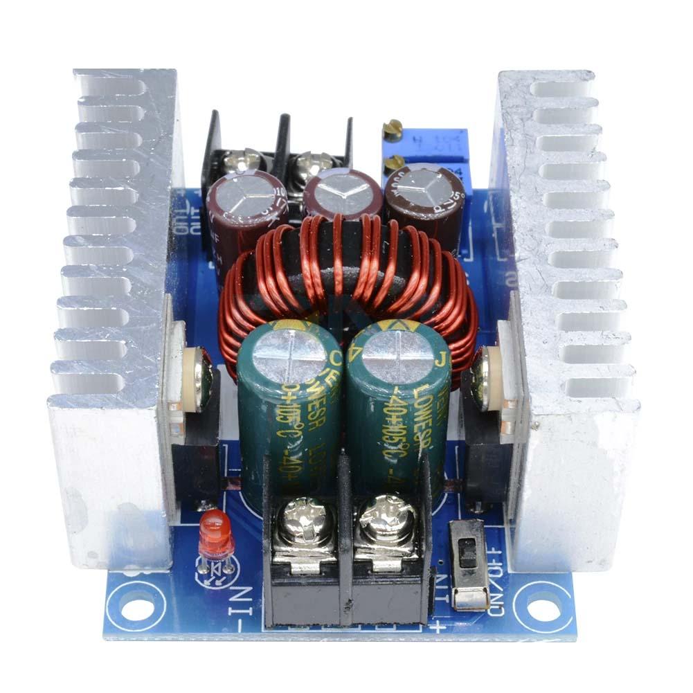 DC 300W 20A CC CV Constant Current Adjustable Step-Down Converter Voltage blue