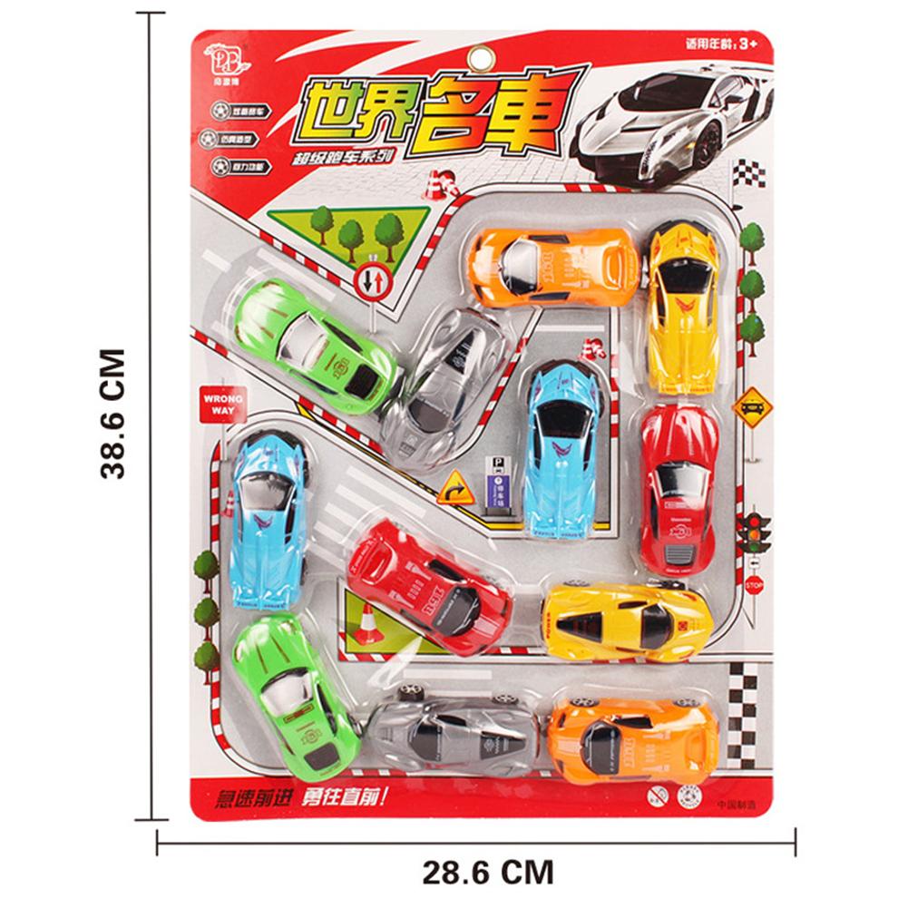 Children Simulate Educational Engineering Trucks/Fire Engines/Airplanes/Fruit Model Inertia Truck Kids Car Set